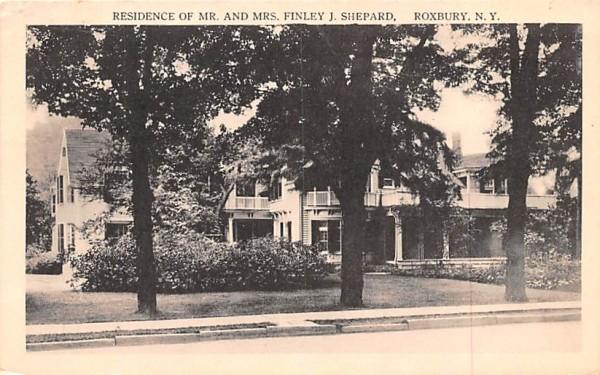 Residence of Mr & Mrs Finley J Shepard Roxbury, New York Postcard