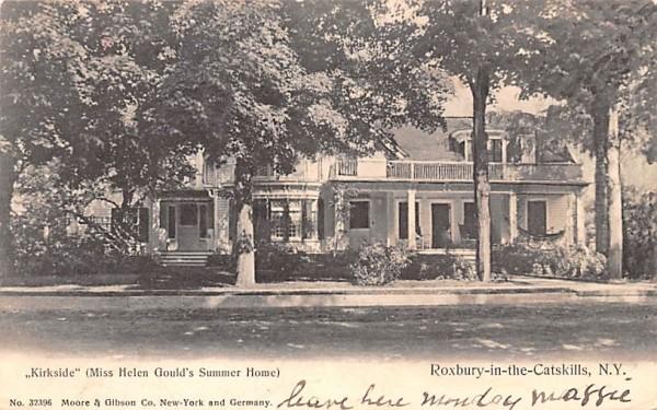 Kirkside Miss Helen Gould's Summer Home Roxbury, New York Postcard