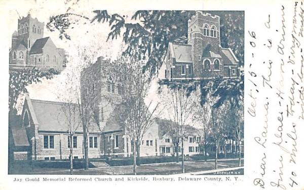 Jay Gould Memorial Reformed Church & Kirkside Roxbury, New York Postcard