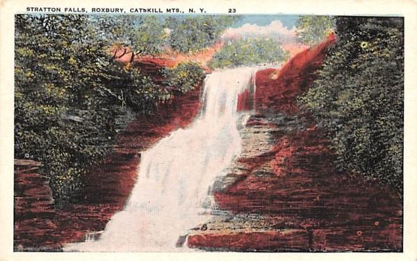 Stratton Falls Roxbury, New York Postcard