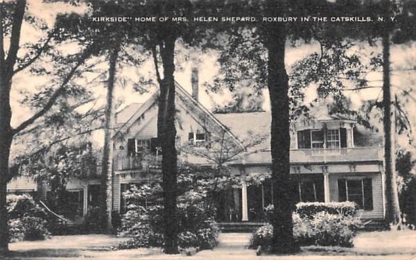 Kirkside home of Mrs Helen Shepard Roxbury, New York Postcard