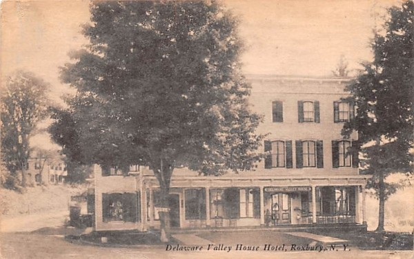 Delaware Valley House Hotel Roxbury, New York Postcard