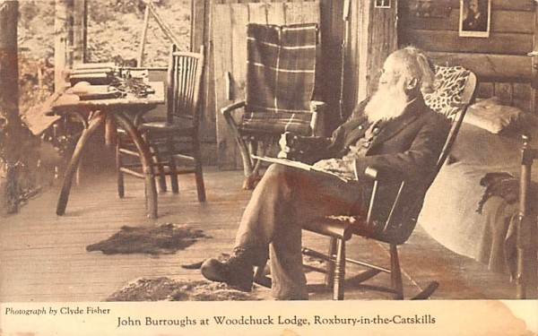 John Burroughs at Woodchuck Lodge Roxbury, New York Postcard