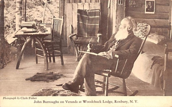 John Burroughs on Veranda at Woodchuck Lodge Roxbury, New York Postcard