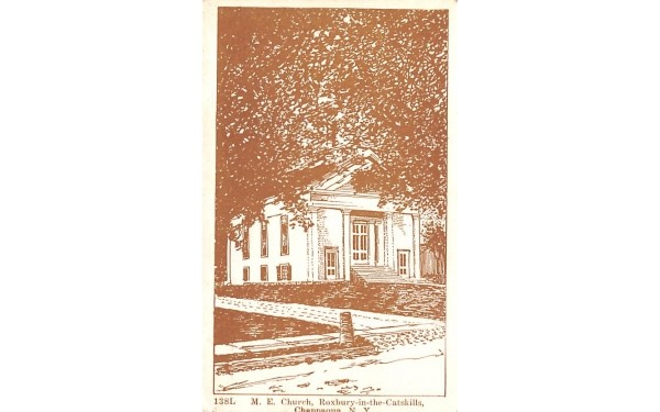 ME Church Roxbury, New York Postcard