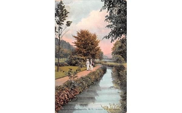 Kirkside Park, The Lagoons Roxbury, New York Postcard
