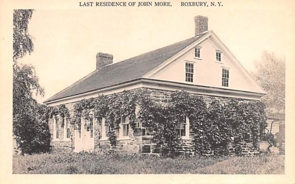 Last Residence of John More Roxbury, New York Postcard