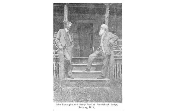 John Burroughs & Hentry Ford Roxbury, New York Postcard
