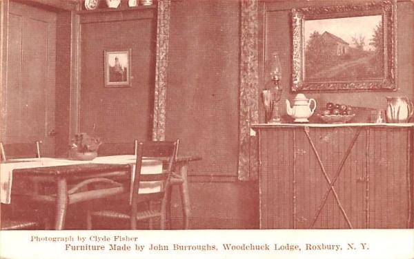 Furniture Made by John Burroughs Roxbury, New York Postcard