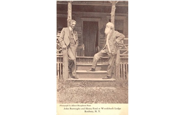 John Burroughs & Henry Fod Roxbury, New York Postcard