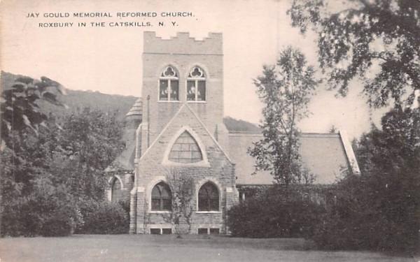 Jay Gould Memorial Reformed Church Roxbury, New York Postcard