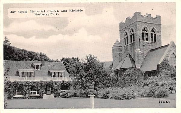 Jay Gould Memorial Church & Kirkside Roxbury, New York Postcard