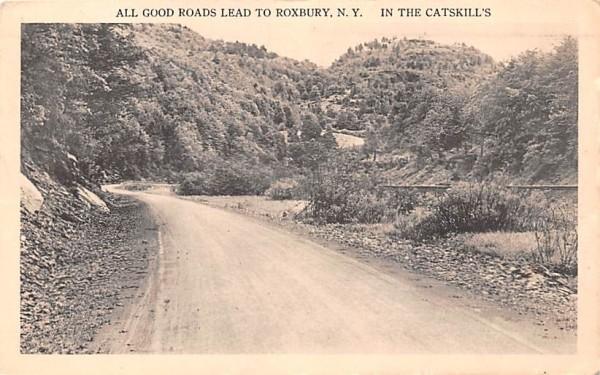 All Good Roads lead to Roxbury New York Postcard