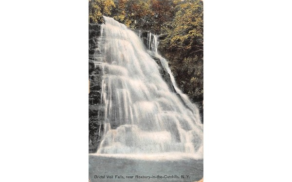 Bridal Veil Falls Roxbury, New York Postcard