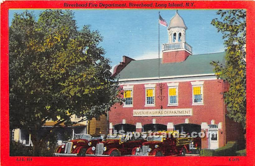 Fire Department - Riverhead, New York NY Postcard