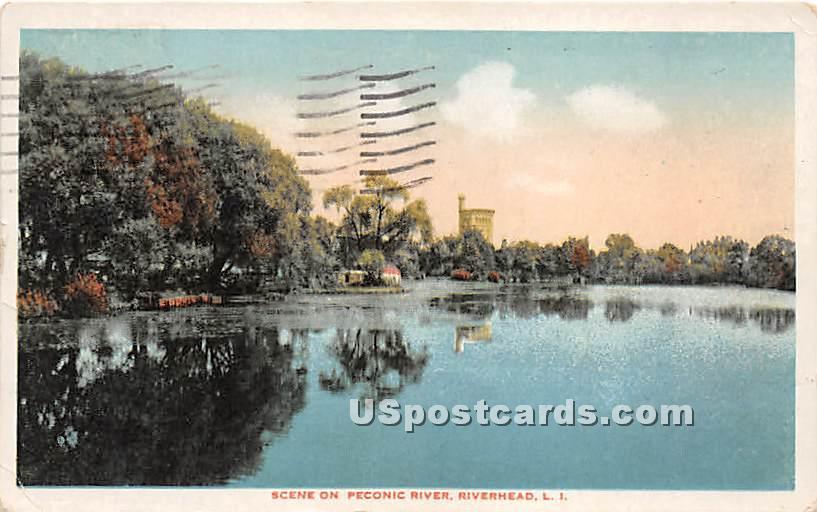 Peconic River - Riverhead, New York NY Postcard