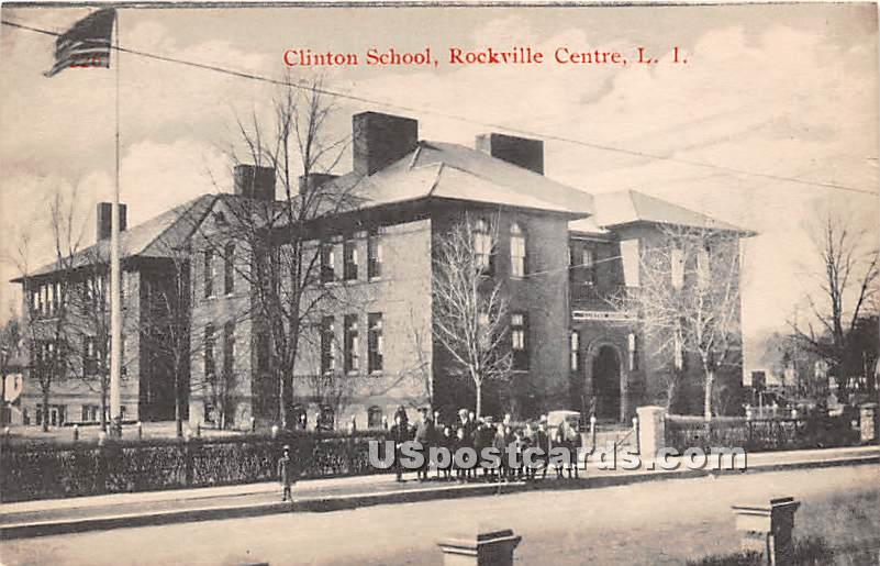 Clinton School - Rockville Centre, New York NY Postcard