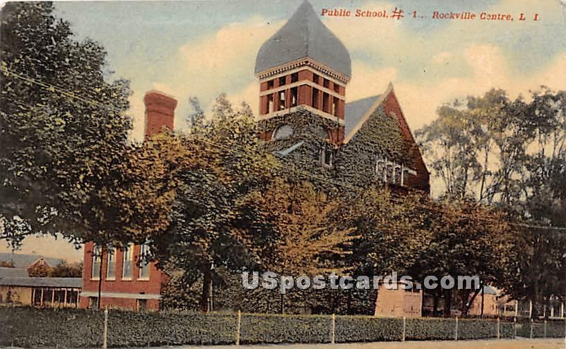 Public School 1 - Rockville Centre, New York NY Postcard