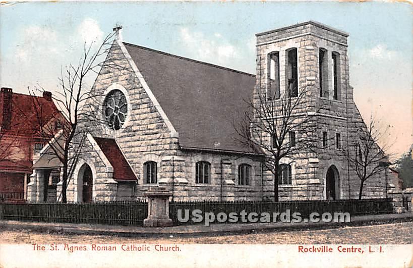 St Agnes Roman Catholic Church - Rockville Centre, New York NY Postcard
