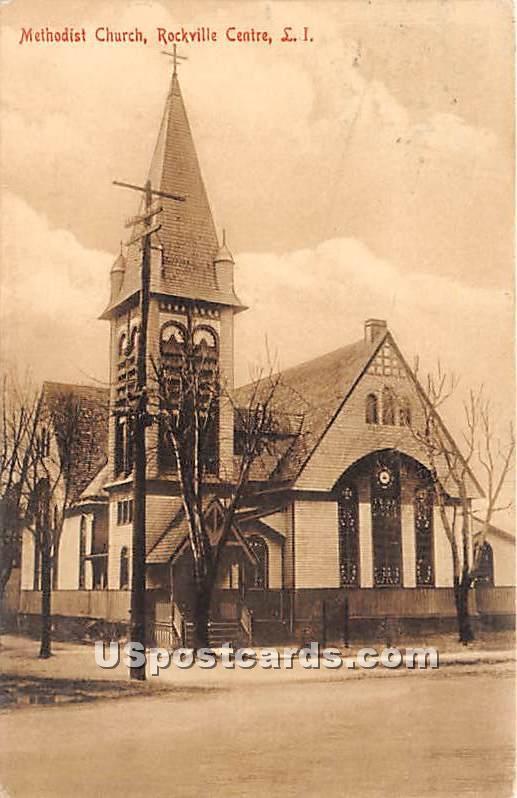 Methodist Church - Rockville Centre, New York NY Postcard