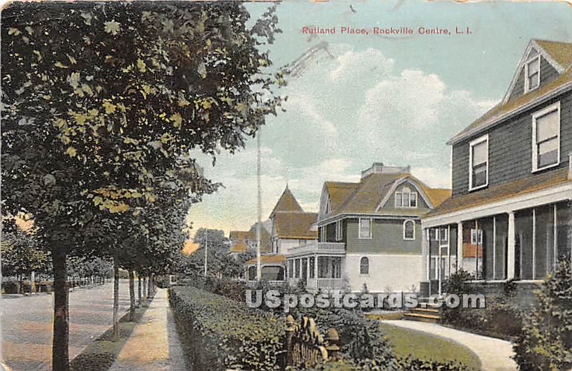 Rutland Place - Rockville Centre, New York NY Postcard