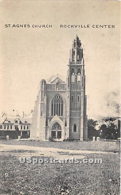 St Agnes Church - Rockville Centre, New York NY Postcard