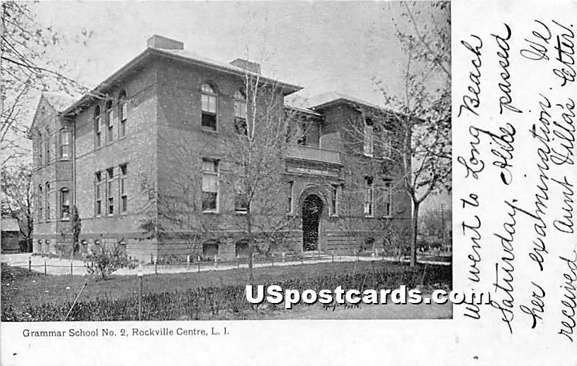 Grammar School No 2 - Rockville Centre, New York NY Postcard