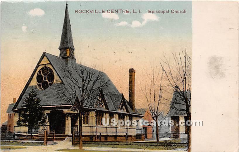 Episcopal Church - Rockville Centre, New York NY Postcard