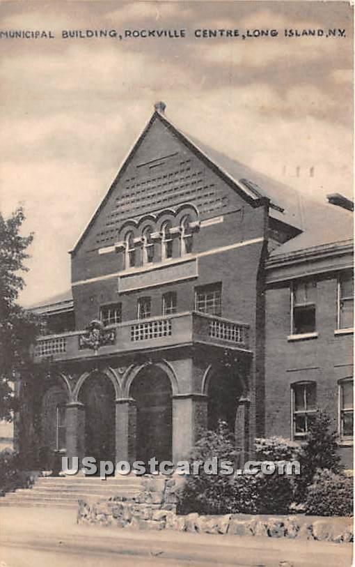 Municipal Building - Rockville Centre, New York NY Postcard