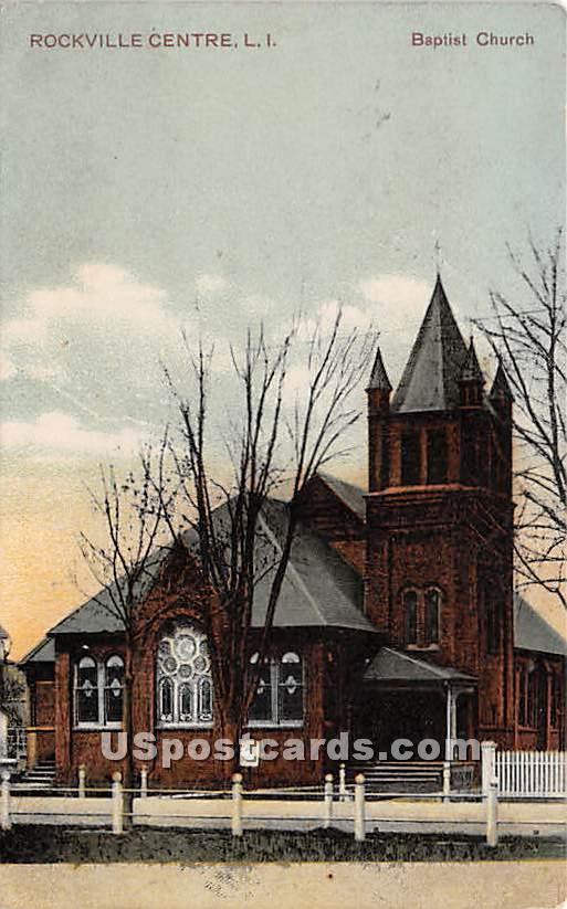 Baptist Church - Rockville Centre, New York NY Postcard