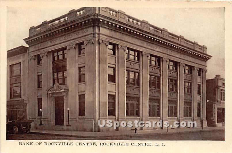Bank of Rockville Centre - New York NY Postcard