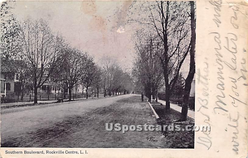 Southern Boulevard - Rockville Centre, New York NY Postcard