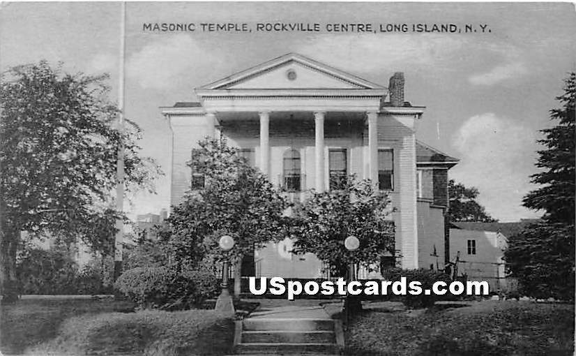 Masonic Temple - Rockville Centre, New York NY Postcard
