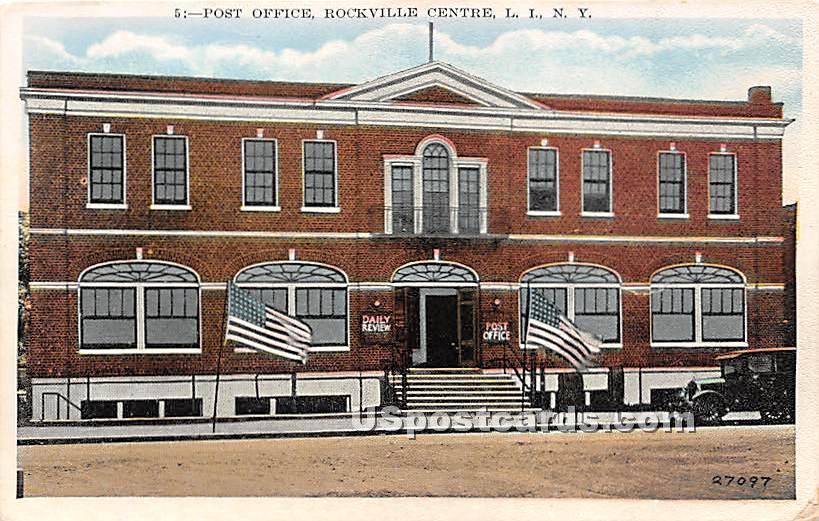 Post Office - Rockville Centre, New York NY Postcard