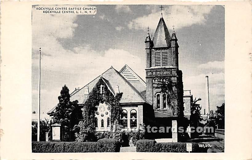 Rockville Centre Baptist Church - New York NY Postcard