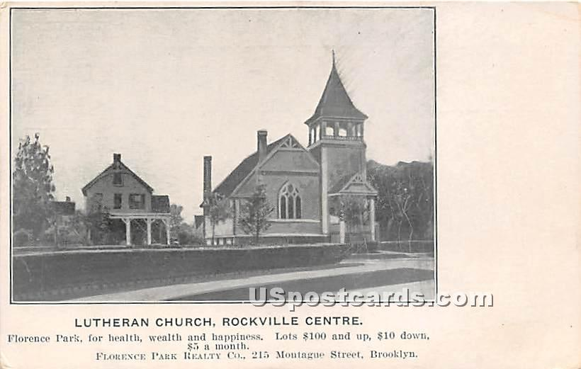 Lutheran Church of the Redeemer - Rockville Centre, New York NY Postcard