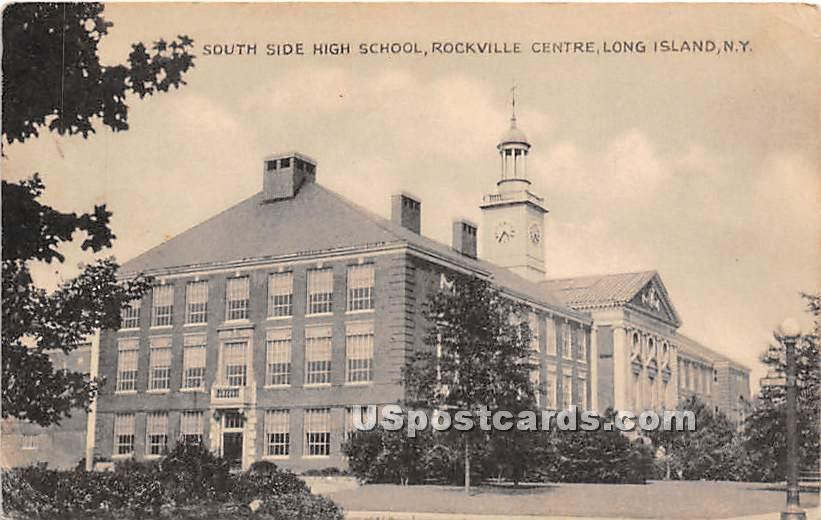 South Side High School - Rockville Centre, New York NY Postcard