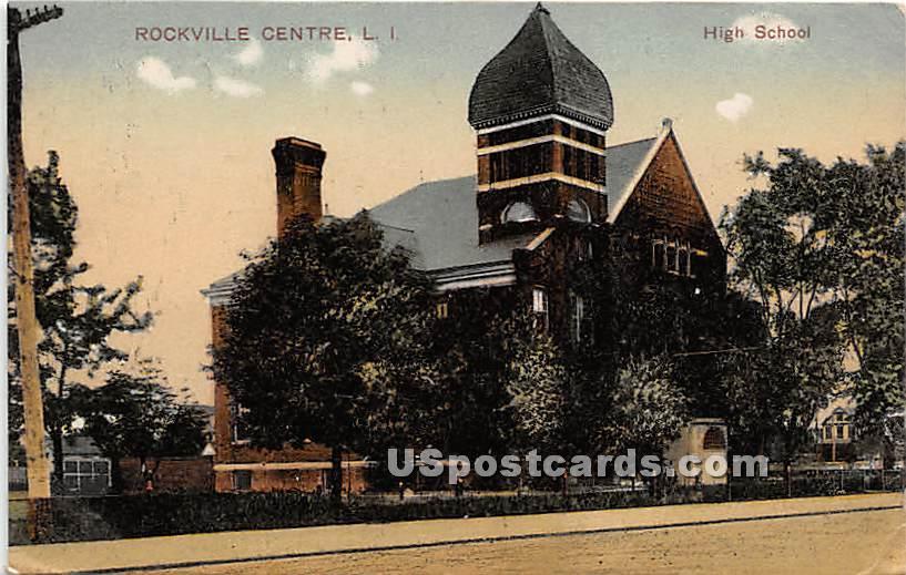 High School - Rockville Centre, New York NY Postcard