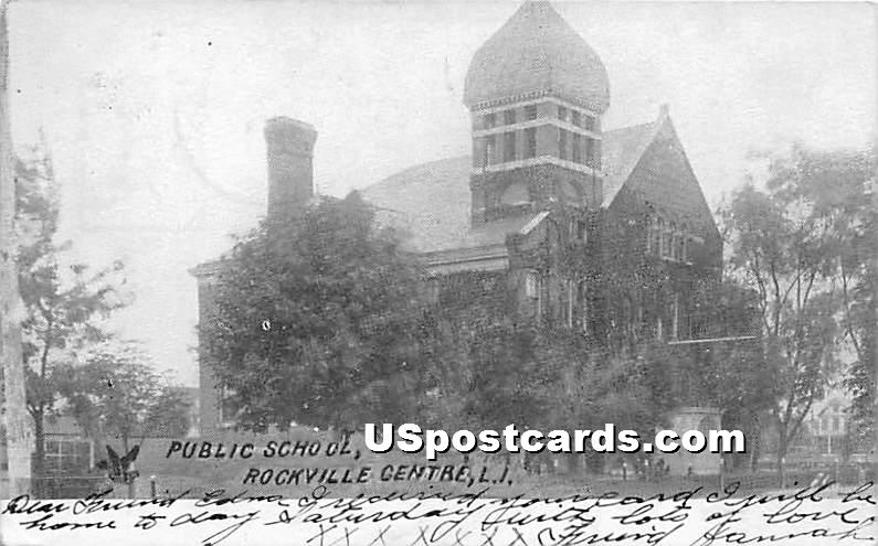 Public School - Rockville Centre, New York NY Postcard