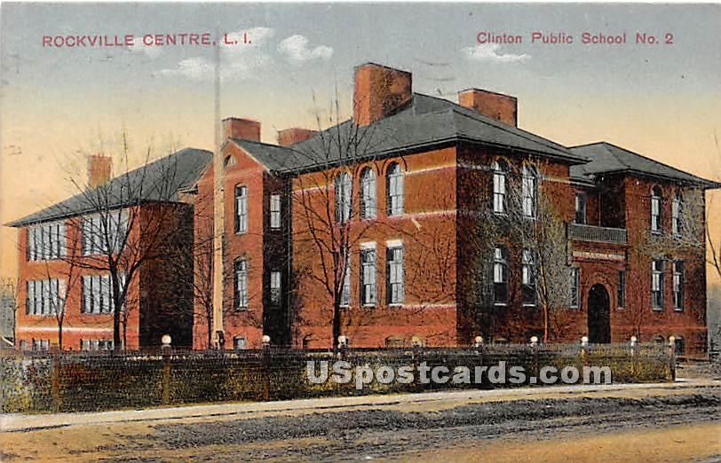 Clinton Public School No 2 - Rockville Centre, New York NY Postcard