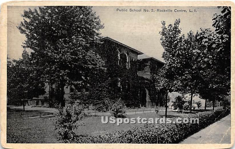 Public School No 2 - Rockville Centre, New York NY Postcard