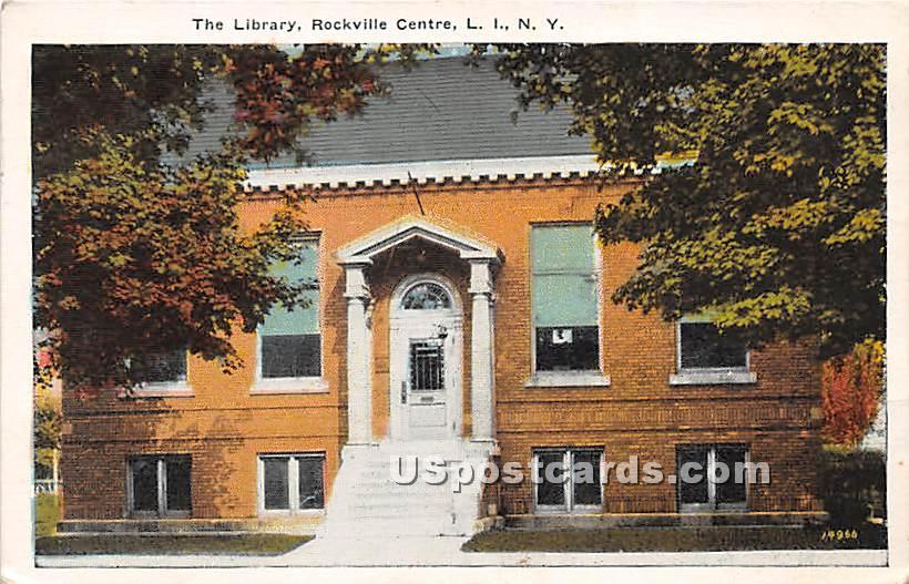 Library - Rockville Centre, New York NY Postcard