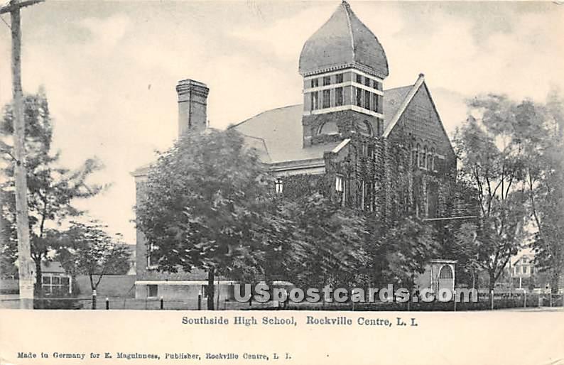 Southside High School - Rockville Centre, New York NY Postcard
