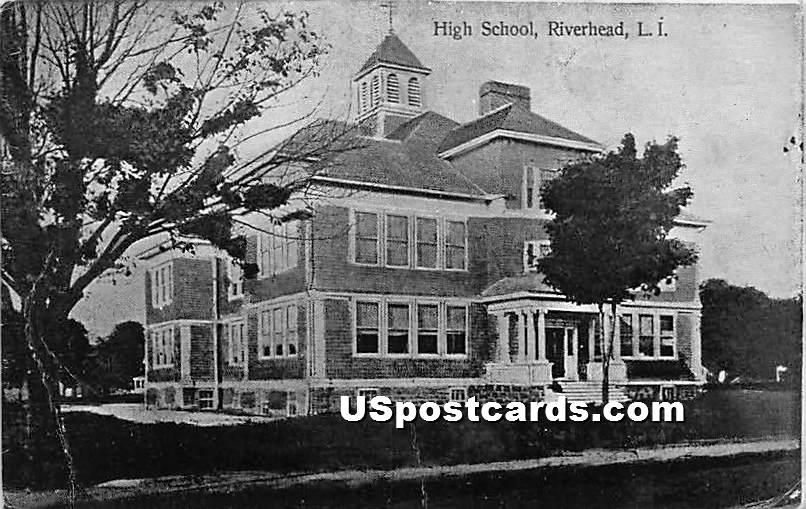 High School - Riverhead, New York NY Postcard