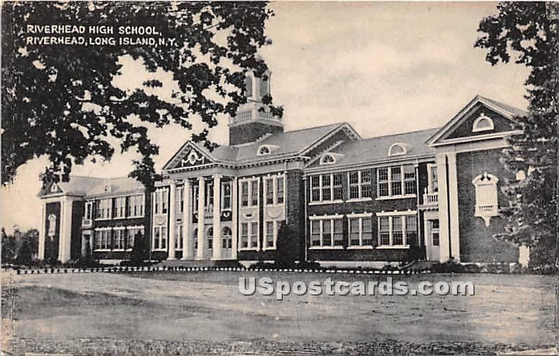 Riverhead High School - New York NY Postcard