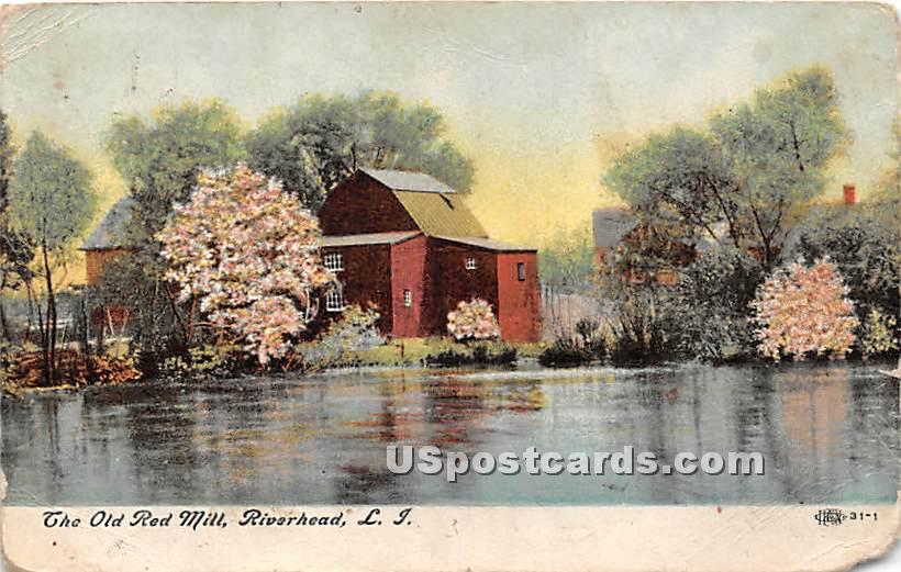 Old Red Mill - Riverhead, New York NY Postcard