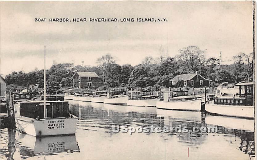 Boat Harbor - Riverhead, New York NY Postcard