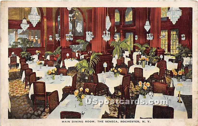 Main Dining Room, The Seneca - Rochester, New York NY Postcard