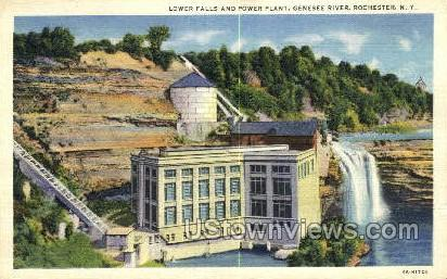 Genesse River - Rochester, New York NY Postcard