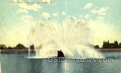 Fountain at Reservoir - Rochester, New York NY Postcard